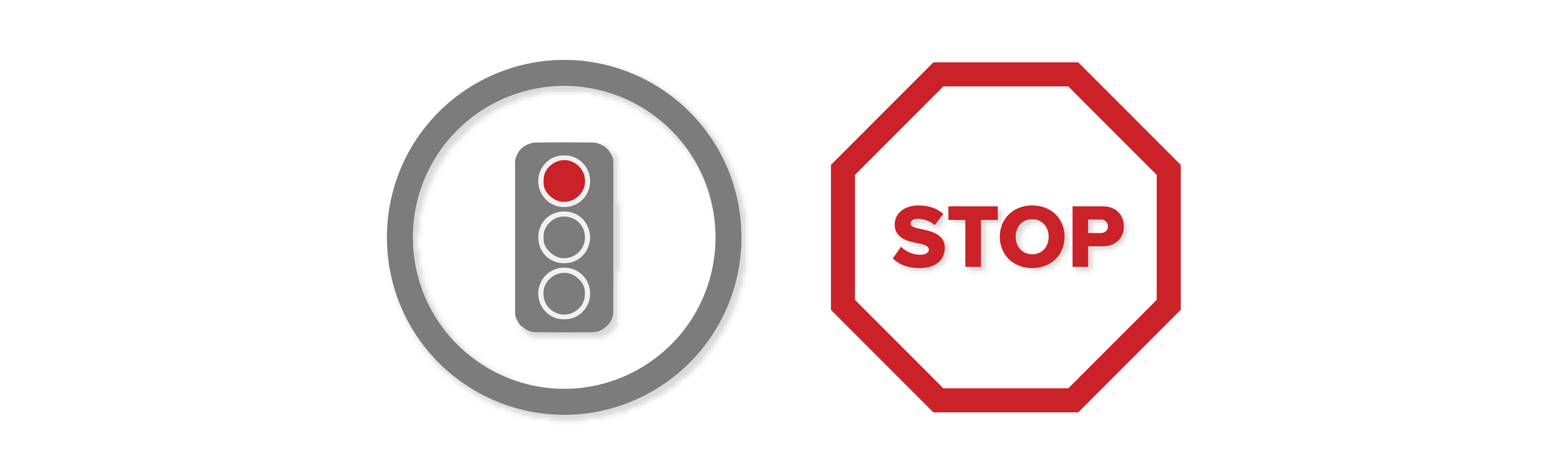 stop at red lights and stop signs