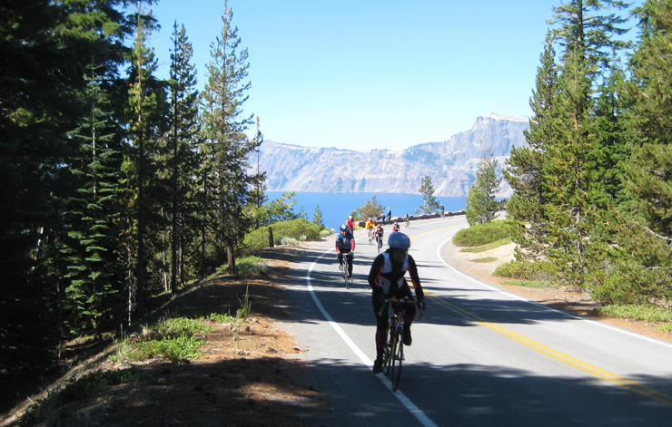 Cycling Crater Lake