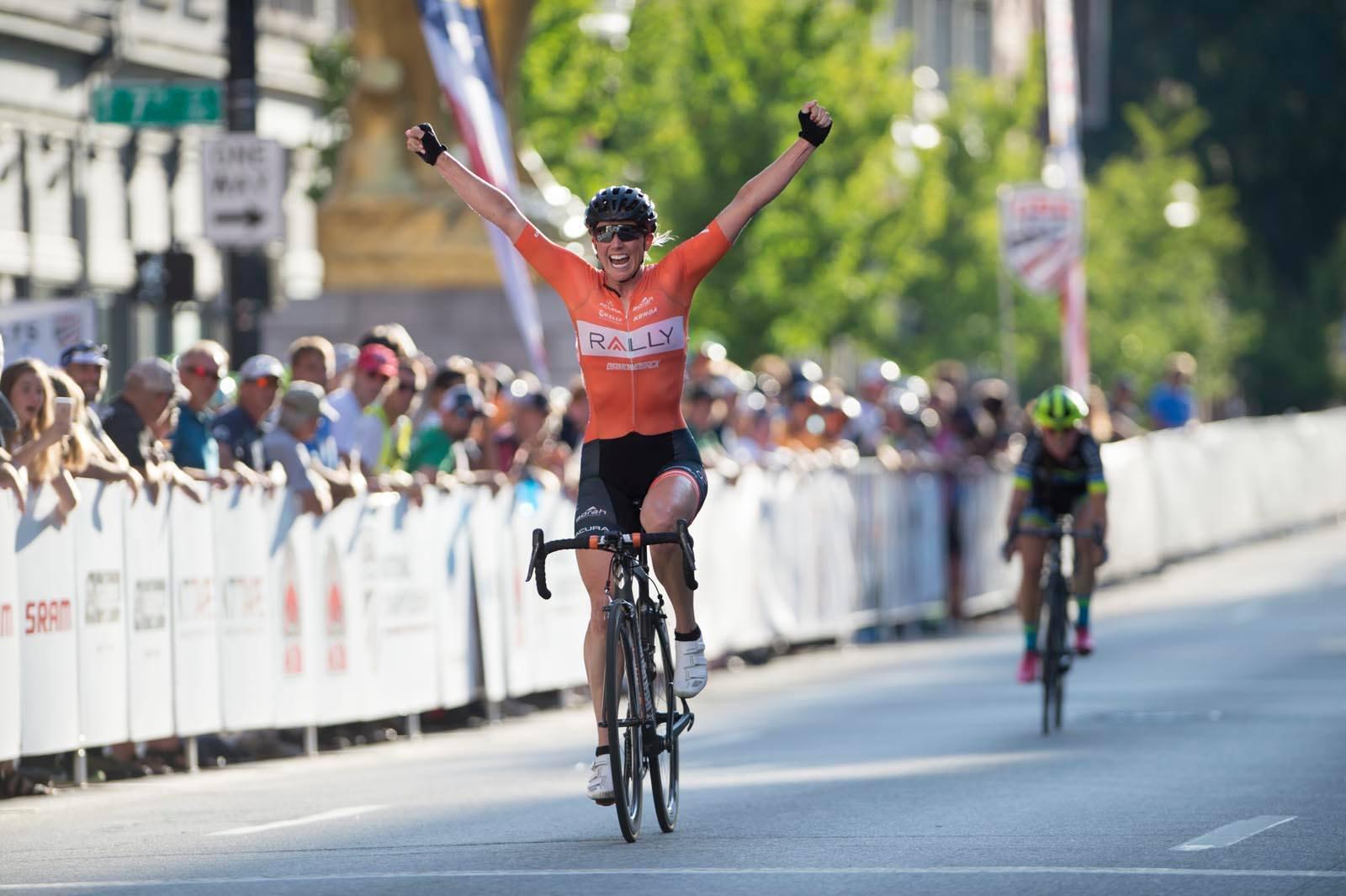 Erica Allar Winning 2017 US Criterium Champsionship