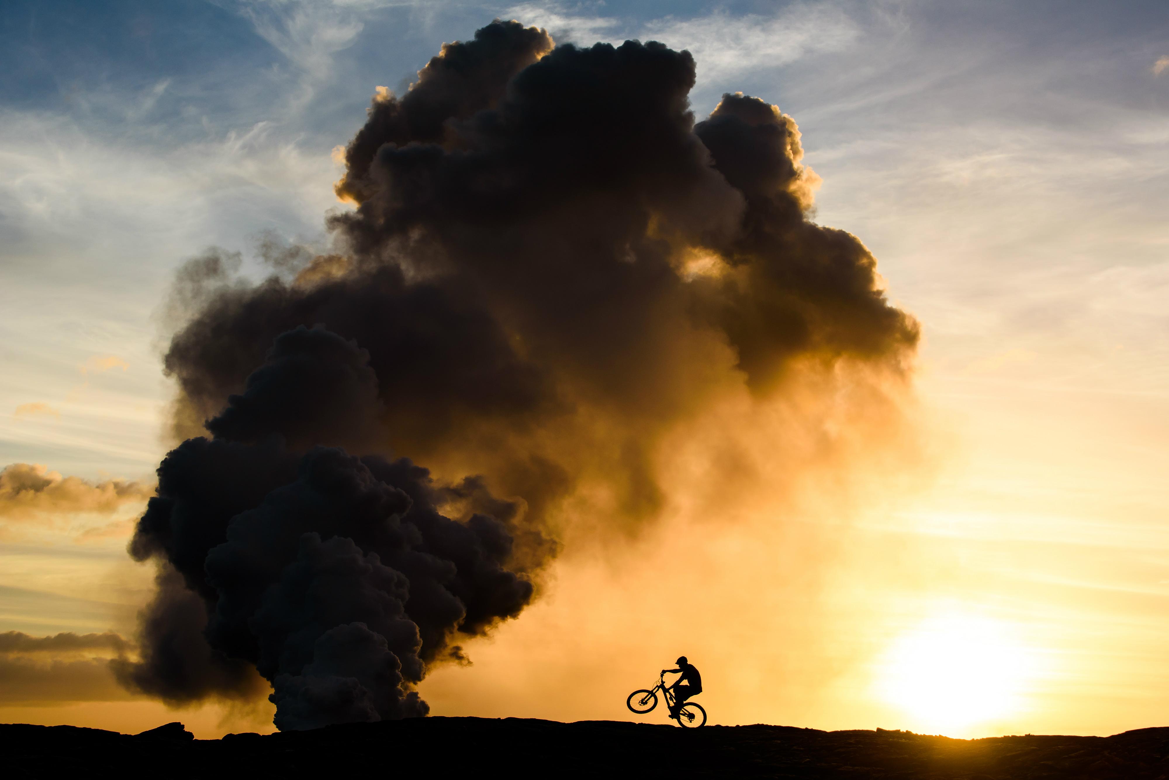 explosive silhouette