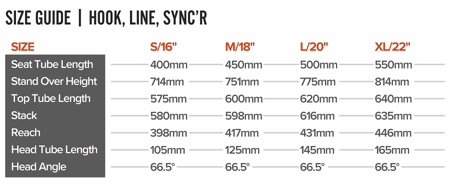 Size Guide Hook, Line, Sync'r