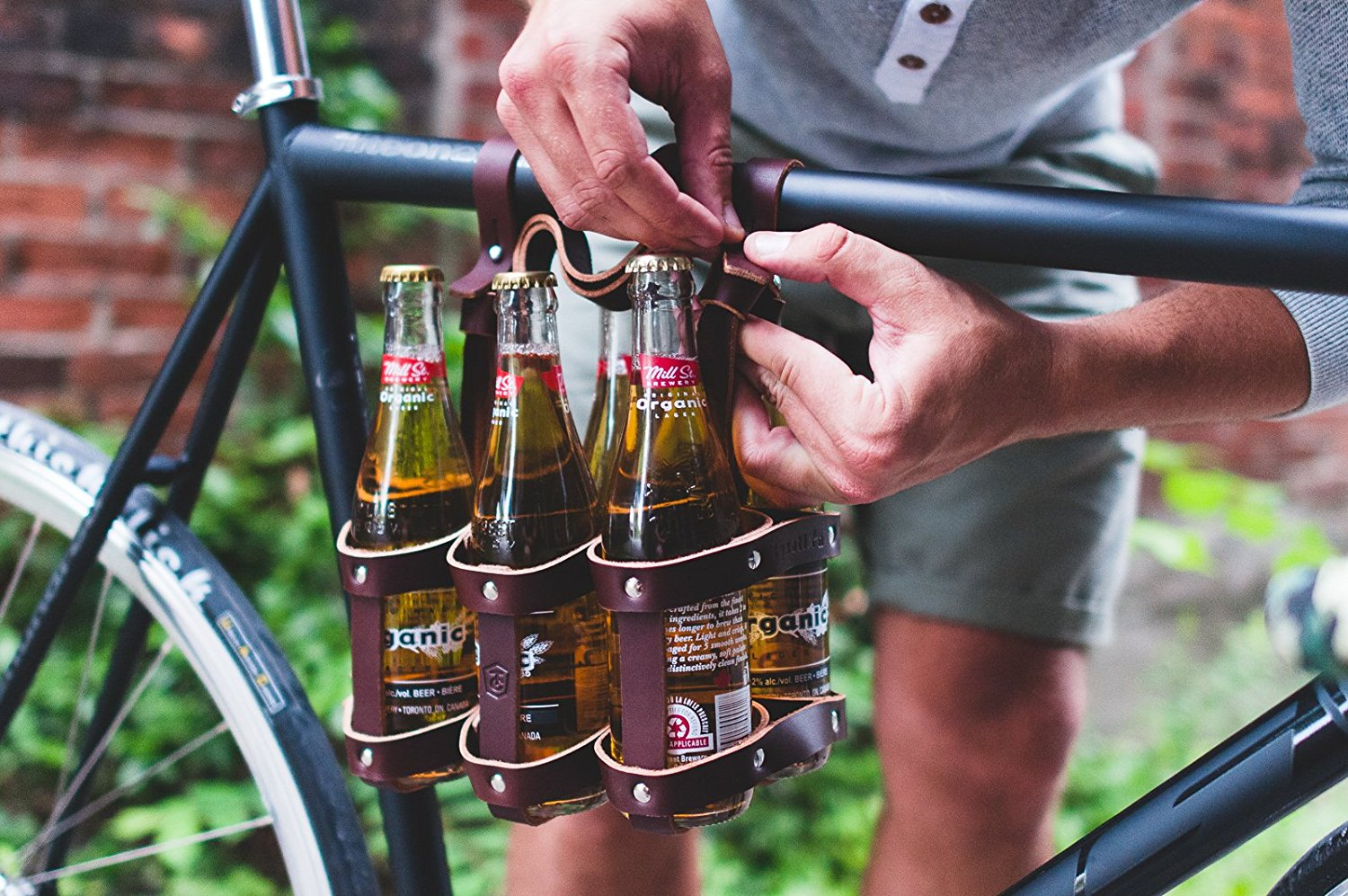 leather six-pack holder