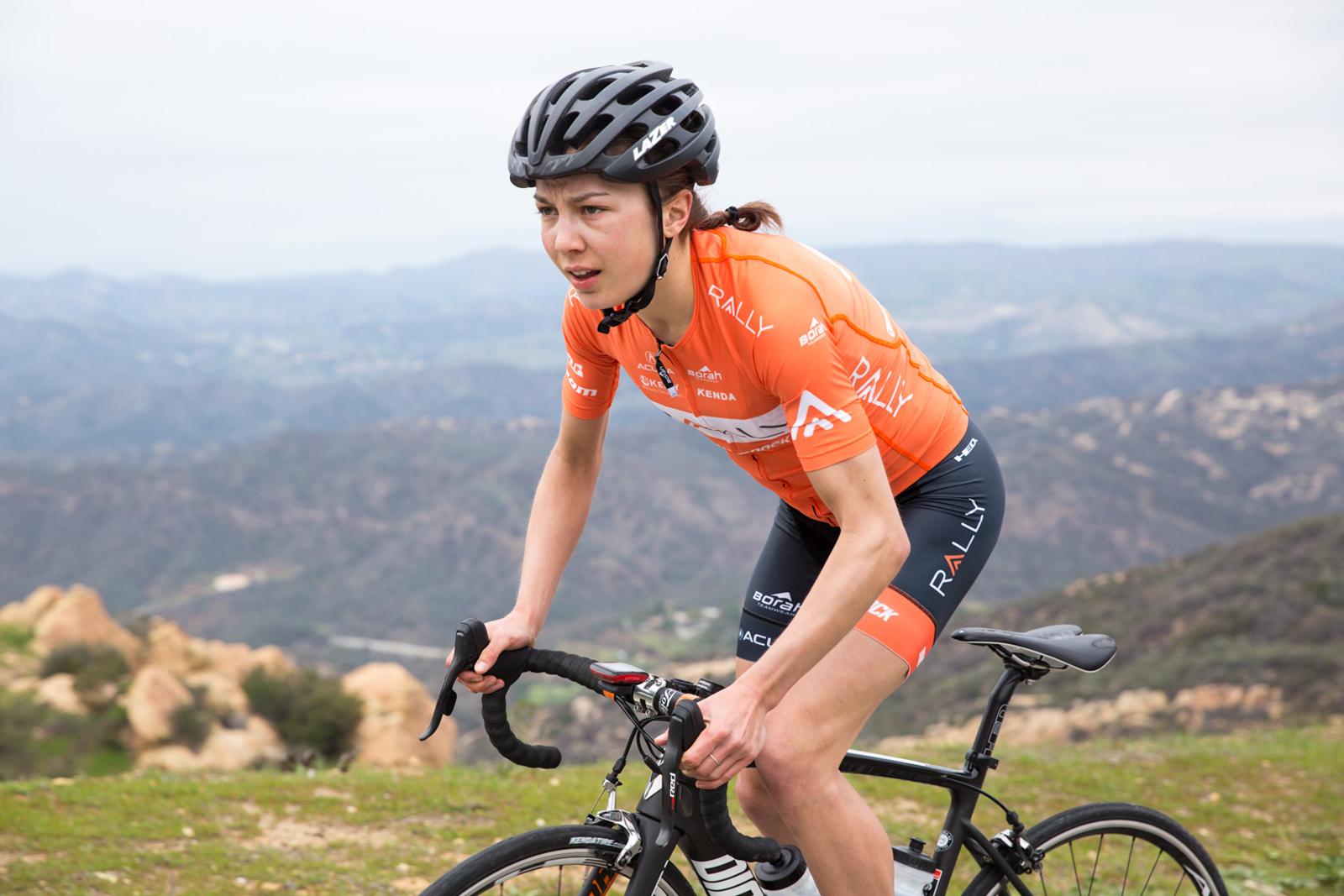 Sara Poidevin climbing