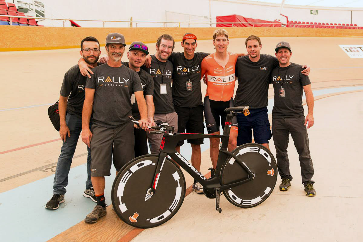 the team behind the national hour record