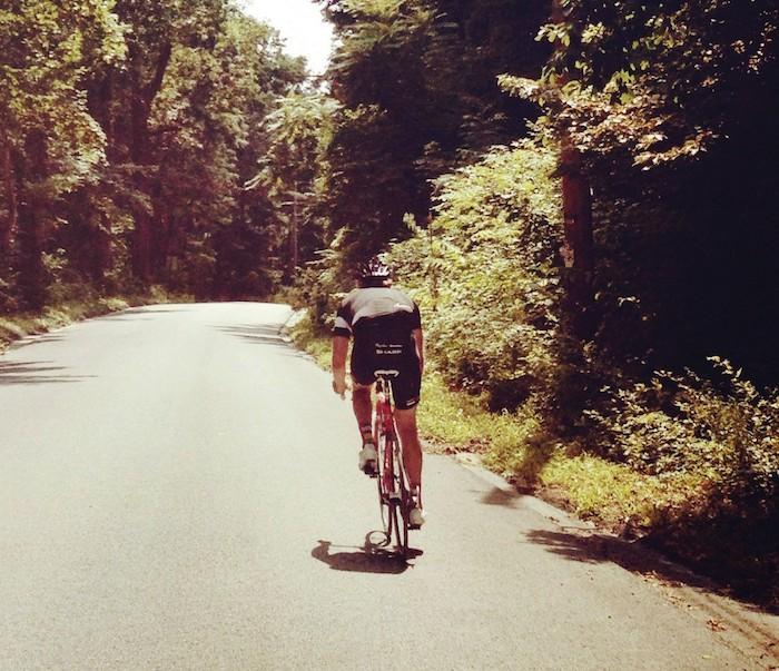 Bike on rural road