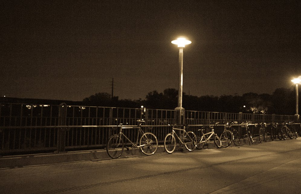 Bikes at night